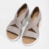 Skórzane sandały oszerokościG gabor, beżowy, 666-8347 - 16