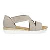Skórzane sandały oszerokościG gabor, beżowy, 666-8347 - 19