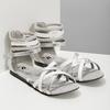 Biało-srebrne sandały dziewczęce mini-b, srebrny, 361-1605 - 26