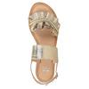 Złote skórzane sandały zperełkami bata, złoty, 566-8632 - 17