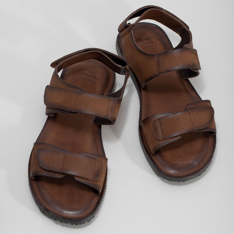 37c1b4d1accb9 ... Brązowe skórzane sandały męskie bata, brązowy, 866-4633 - 16 ...
