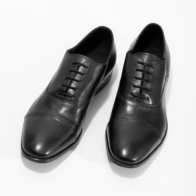 Czarne skórzane półbuty typu oksfordy bata, czarny, 824-6944 - 16