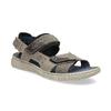 Szare skórzane sandały na rzepy bata, szary, 866-4640 - 13