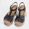 Skórzane sandały na stabilnych obcasach gabor, 766-9378 - 16