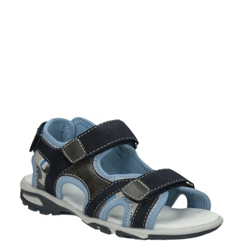 Granatowe sandały chłopięce zzapięciami na rzepy mini-b, niebieski, 261-9608 - 13