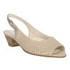 Beżowe skórzane sandały oszerokościH, zkryształkami gabor, beżowy, 663-8019 - 13
