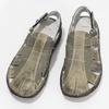 Brązowe skórzane sandały męskie bata, brązowy, 866-2622 - 16