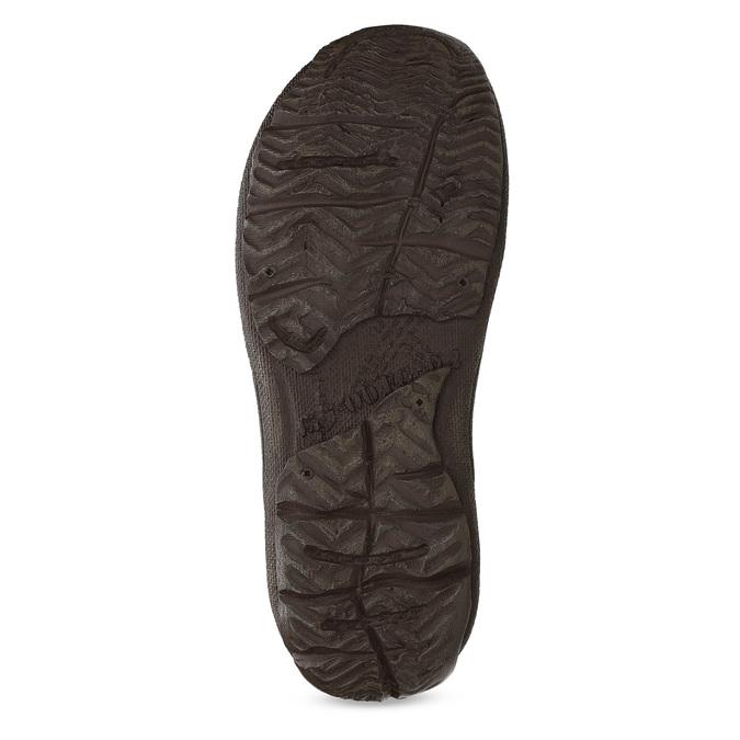 Brązowe skórzane sandały męskie bata, brązowy, 866-2622 - 18