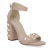 Sandały damskie zperełkami, na słupkach insolia, różowy, 769-5623 - 13