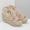 Wyplatane sandały na platformie bata, różowy, 759-8633 - 26