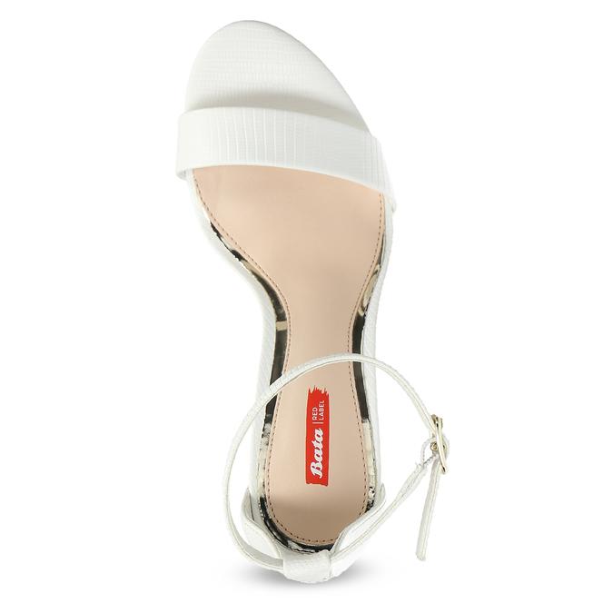 Białe sandały na szpilkach bata-red-label, biały, 661-1610 - 17