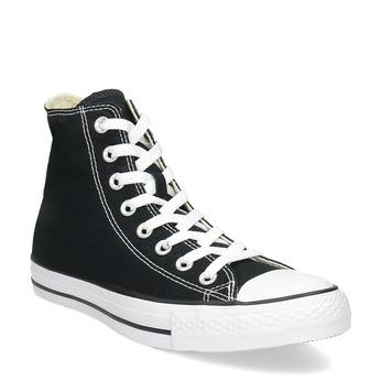 Czarno-białe trampki męskie zgumowymi noskami converse, czarny, 889-6278 - 13