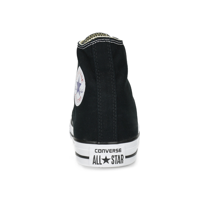 Czarno-białe trampki męskie zgumowymi noskami converse, czarny, 889-6278 - 15