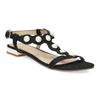 Czarne sandały zperełkami bata, czarny, 569-6606 - 13