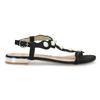 Czarne sandały zperełkami bata, czarny, 569-6606 - 19