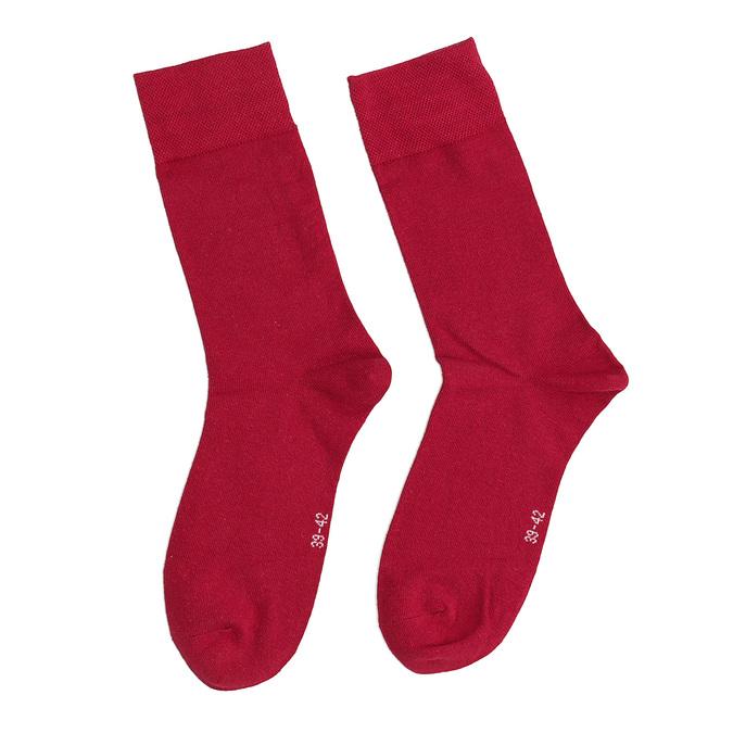 Długie czerwone skarpetki męskie bata, czerwony, 919-5646 - 26