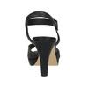 Czarne perforowane sandały damskie na obcasach insolia, czarny, 761-6618 - 15