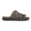 Brązowe skórzane klapki męskie bata, brązowy, 876-4600 - 19