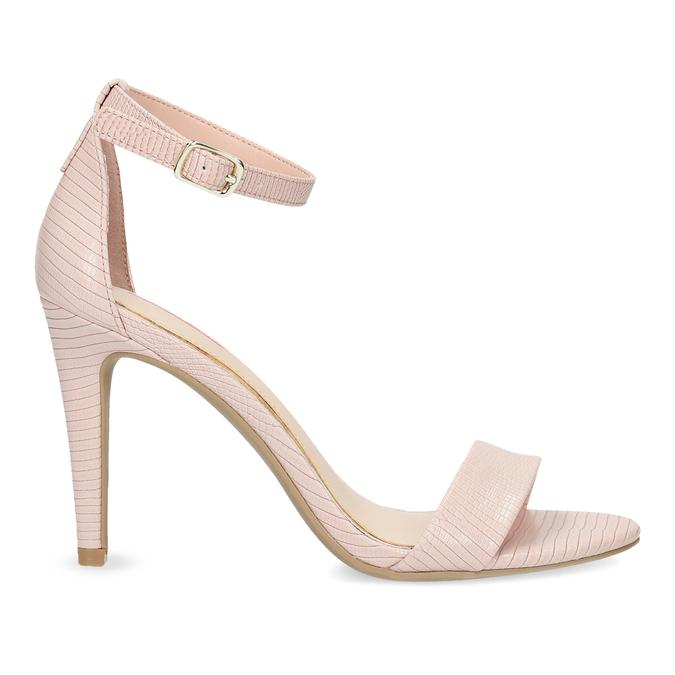 Różowe sandały na szpilkach, różowy, 661-5610 - 19
