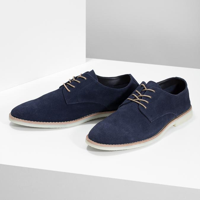 Niebieskie nieformalne półbuty męskie bata-red-label, niebieski, 823-9625 - 16