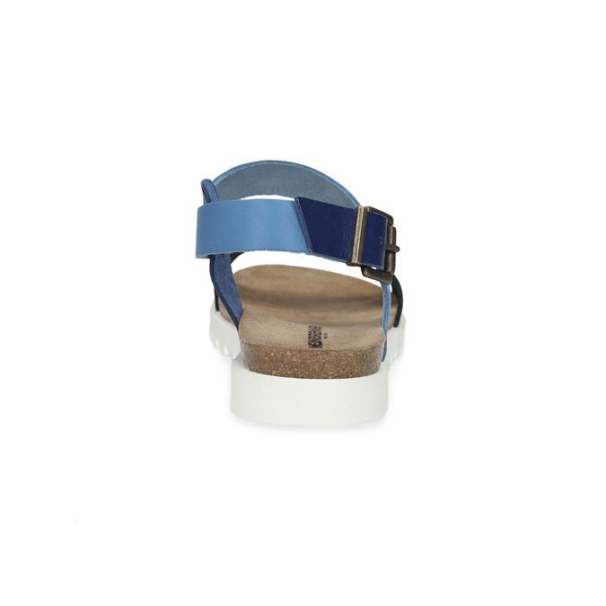 Niebieskie skórzane sandały damskie weinbrenner, niebieski, 566-9643 - 15