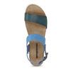 Niebieskie skórzane sandały damskie weinbrenner, niebieski, 566-9643 - 17