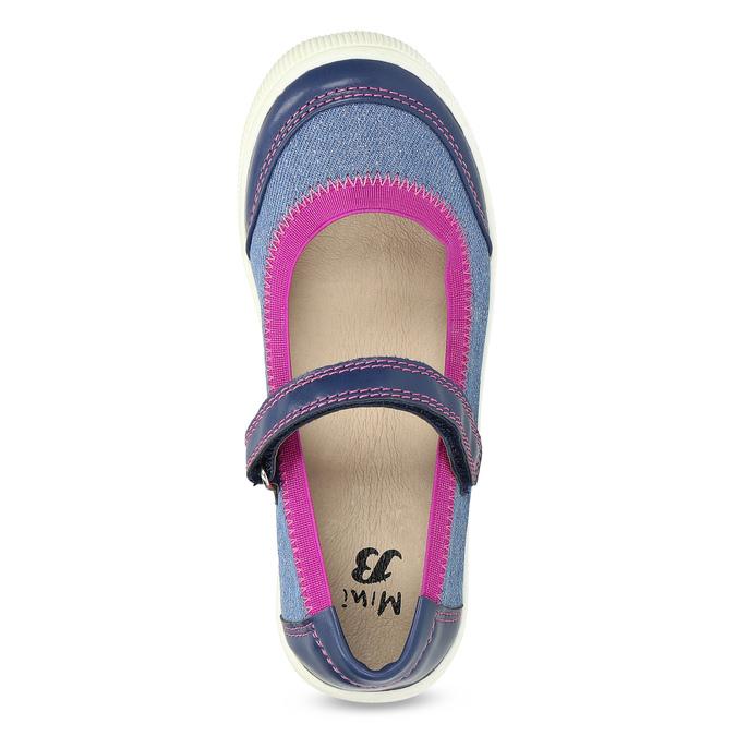 Granatowo-różowe baleriny dziewczęce mini-b, niebieski, 329-9382 - 17