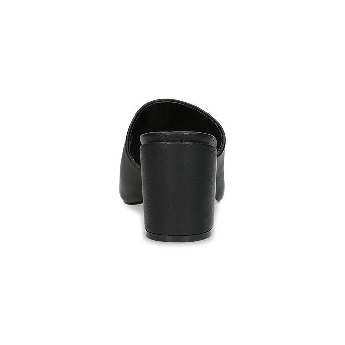 Czarne klapki na obcasach insolia, czarny, 761-6620 - 15