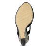 Czarne sandały damskie na wzorzystych koturnach insolia, czarny, 769-6622 - 18