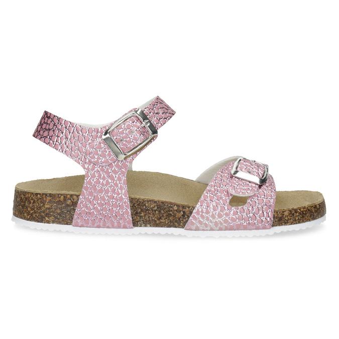 Różowe korkowe sandały mini-b, różowy, 361-5250 - 19