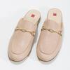 Skórzane mokasyny bez pięty, ze złotymi wędzidłami hogl, różowy, 516-8009 - 16