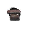 Brązowe skórzane sandały męskie na rzepy weinbrenner, brązowy, 866-4635 - 15