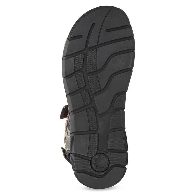 Brązowe skórzane sandały na rzepy weinbrenner, brązowy, 866-4642 - 18