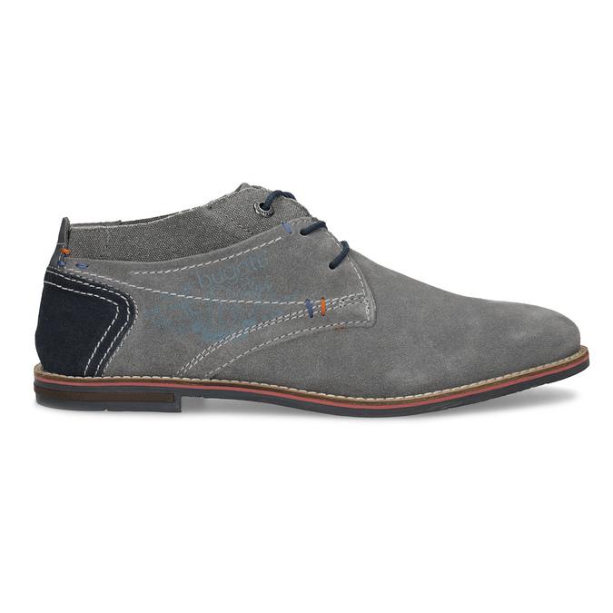 Szare zamszowe buty wstylu chukka bugatti, szary, 823-2015 - 19