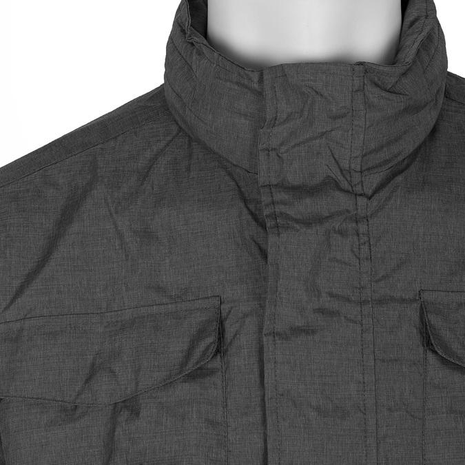 Szara kurtka męska zmateriału tekstylnego bata, szary, 979-2137 - 16