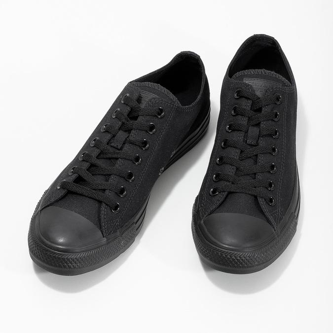 Czarne płócienne trampki męskie converse, czarny, 889-6279 - 16