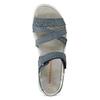 Niebieskie skórzane sandały wstylu outdoor weinbrenner, niebieski, 566-9634 - 17