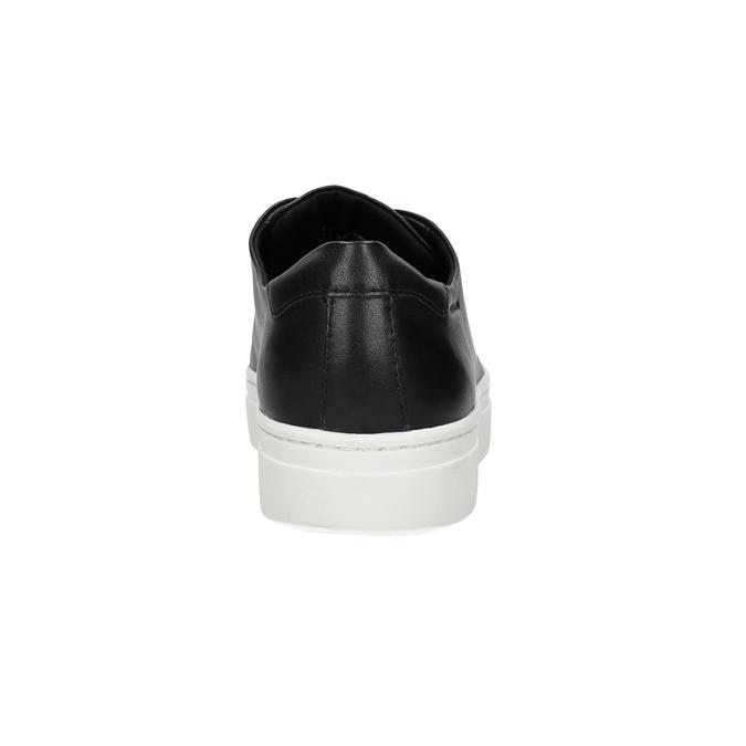 Czarne skórzane slip-on zelastycznymi pasami vagabond, czarny, 634-6002 - 16