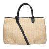Czarna wyplatana torebka onaturalnej stylistyce bata, czarny, 969-6680 - 16