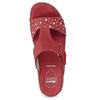 Czerwone skórzane klapki zkryształkami, na koturnach comfit, czerwony, 574-5438 - 17