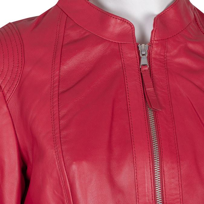 Czerwona skórzana kurtka bata, czerwony, 974-5180 - 16