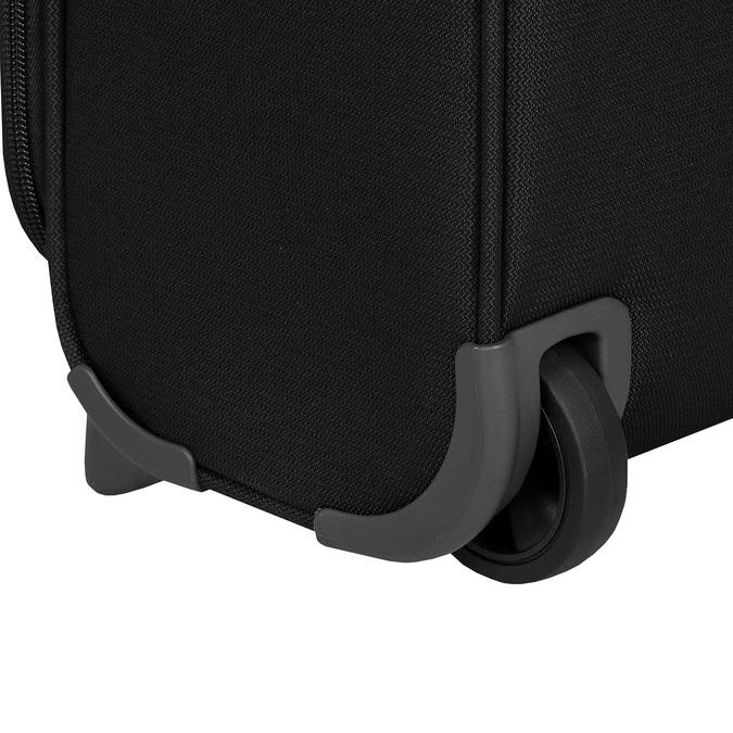 Mała czarna walizka podróżna samsonite, czarny, 969-6617 - 16
