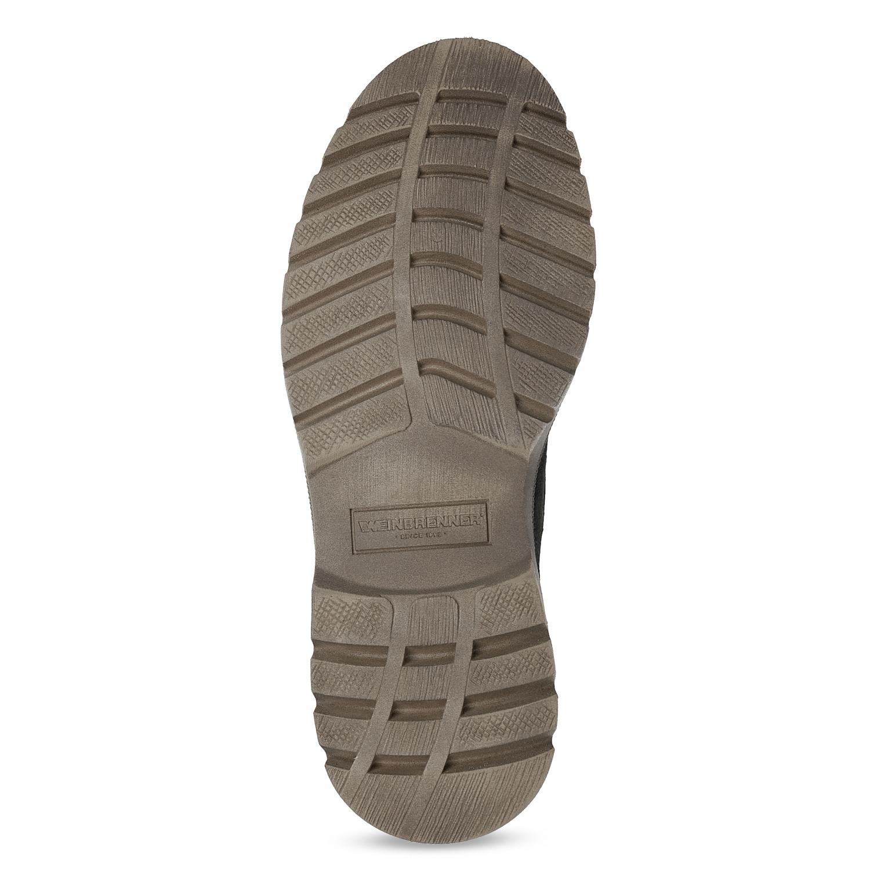 10ac4586 ... Skórzane zimowe buty męskie weinbrenner, czarny, 896-6107 - 18