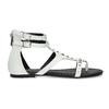 Białe sandały damskie zćwiekami bata, biały, 561-1613 - 19
