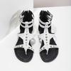 Białe sandały damskie zćwiekami bata, biały, 561-1613 - 16