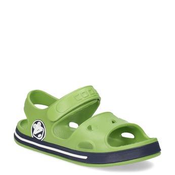 Zielone sandały chłopięce coqui, zielony, 372-7658 - 13
