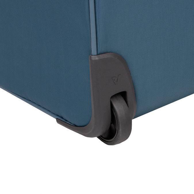 Turkusowa walizka na kółkach, zmateriału tekstylnego roncato, niebieski, 969-9720 - 16