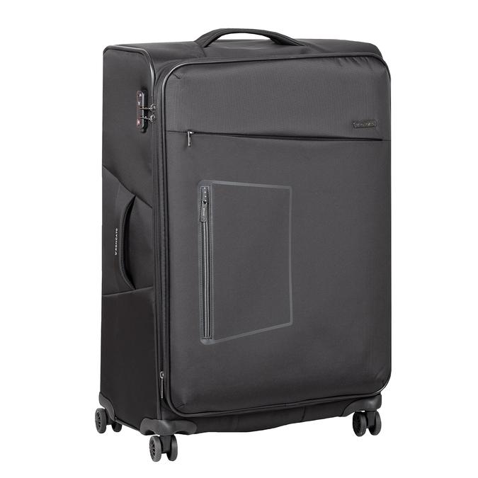 Średnia walizka na kółkach, zmateriału tekstylnego roncato, czarny, 969-6710 - 13