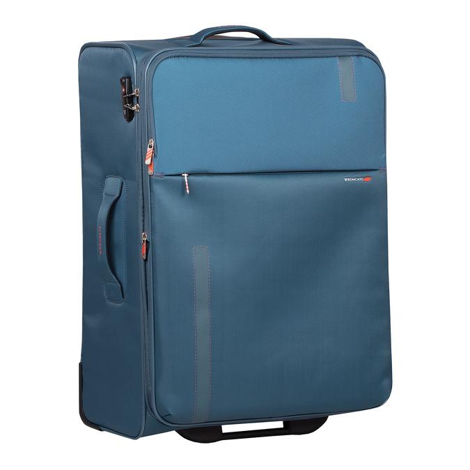 Turkusowa walizka na kółkach, zmateriału tekstylnego roncato, niebieski, 969-9720 - 13