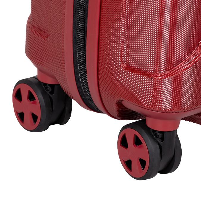 Mała czerwona twarda walizka na kółkach roncato, czerwony, 960-5738 - 16